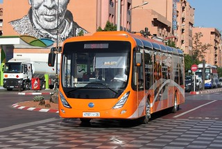 Dongfeng Yangtse Veyron G52 12 meters pure electric city bus - Marrakech