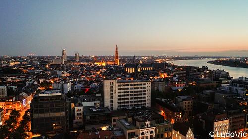 anvers antwerpen belgique belgium belgie city citytrip cityscape night coucher travel