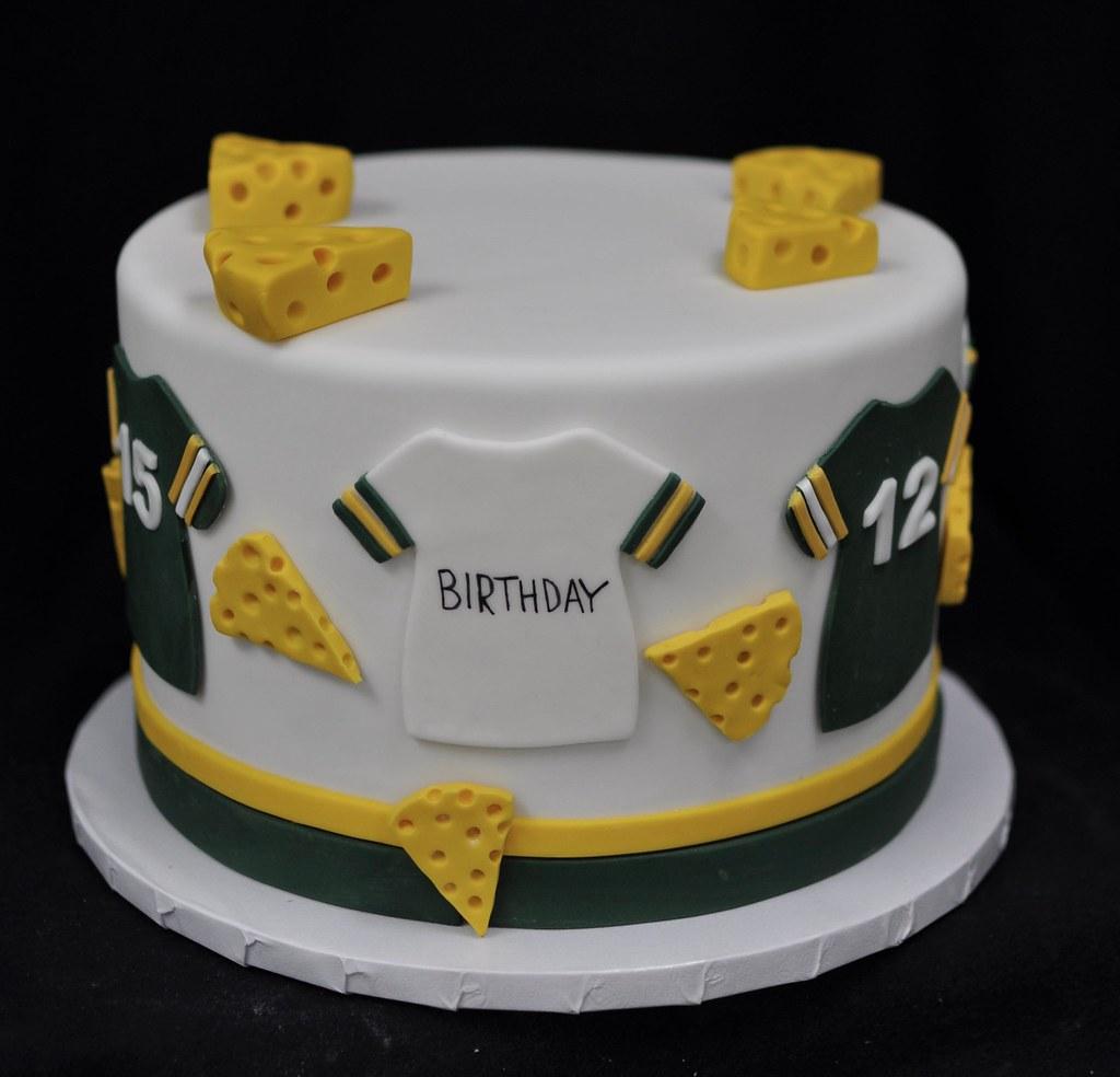 Sensational Green Bay Packers Birthday Cake Jenny Wenny Flickr Personalised Birthday Cards Veneteletsinfo