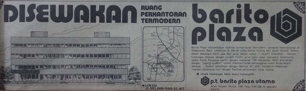 Barito Plaza - Kompas, 8 Oktober 1979