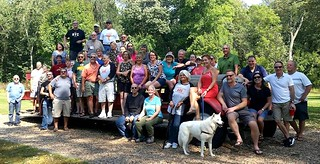 AHS class group photo on the poor old firetruck at Brookside Park Sunday Sep 24 2017 40-year reunion #AHSclassphoto #1977classphoto