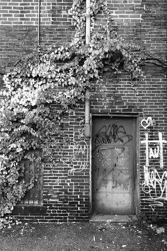 concord nh alley door bricks blackwhite phonepic 0331