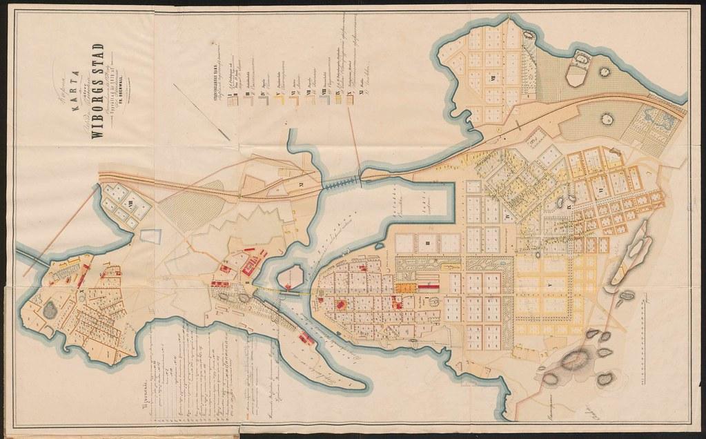 Kaupungin Kartta 1878 Records Creator Viipurin Insinoorik Flickr