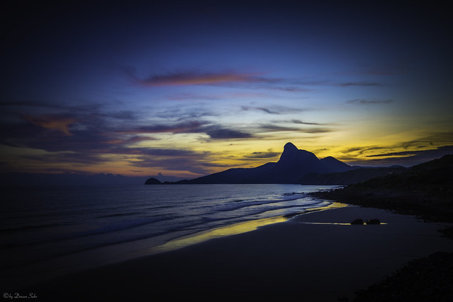 blue hour over Con Dao