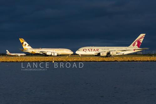 storm a380 airbus etihad qatar aviation plane air airport airplane