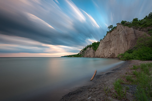 scarborough bluffs longexposure lake ontario canada sunset sky clouds sand beach rock nikond800 landscape seascape outdoor water nikon1735f28