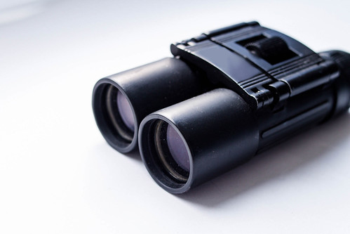 Black binoculars, close up | by wuestenigel