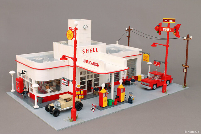 Art Déco Gas Station