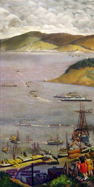"""San Francisco Bay"" Otis Oldfield, Coit Tower"