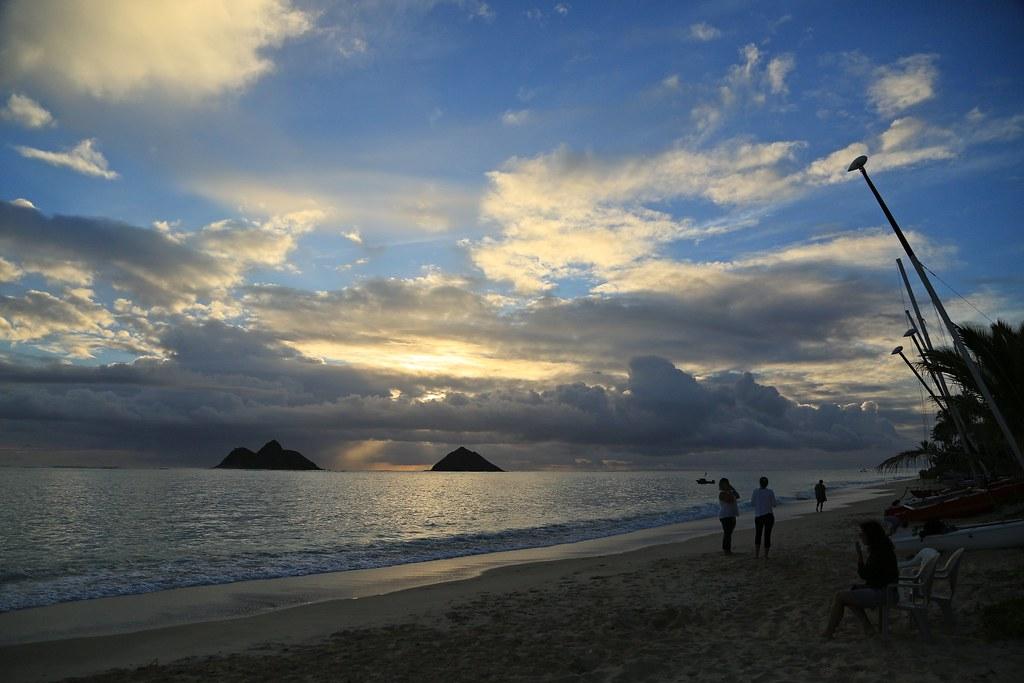Sunrise At Lanikai Beach Oahu Hawaii Aloha De Hawaii