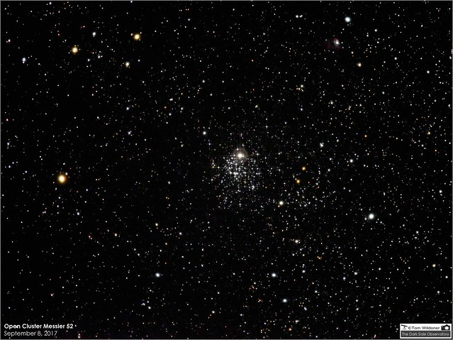 Messier 52 Open Cluster in Cassiopeia