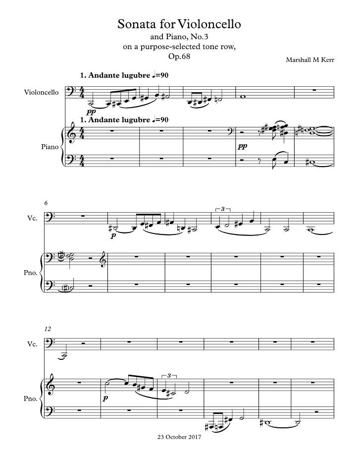 Sonata for Violoncello | and Piano No.3 on a purpose ...