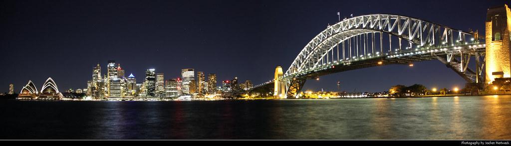 Sydney Harbour Panorama @ Night, Australia
