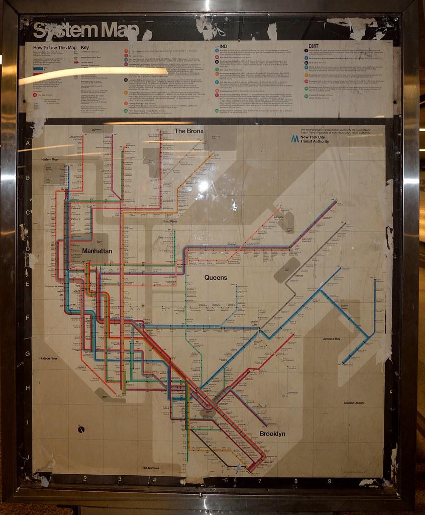 Nyc Subway Map By Massimo Vignelli.Massimo Vignelli Map 1974 Map Of The Nyc Subway It Includ Flickr