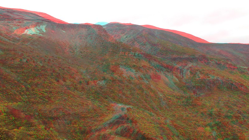 Mount Zao, anaglyph