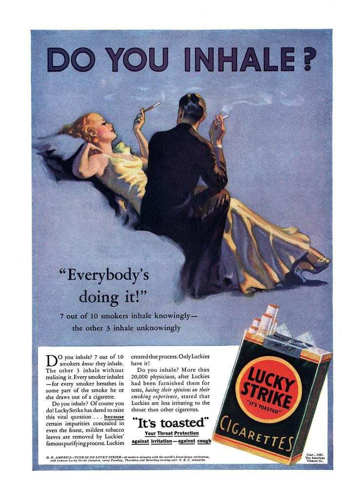 advertisement  1932 lucky strike advertisement