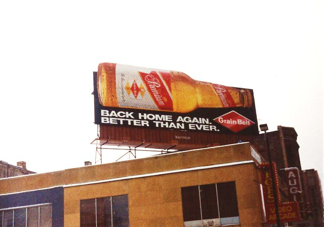 Grain Belt Premium billboard, 1993