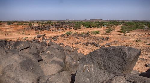 niger landscape desert rocks