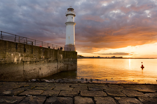newhavenharbour lighthouse uk seascape architecture edinburgh leith beach hdr highdynamicrange luminositymask sunset nikon d750