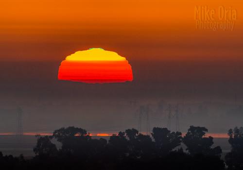 sun california brentwood vascoroad clifton forebay mikeoria sunrise solar green flash greenflash