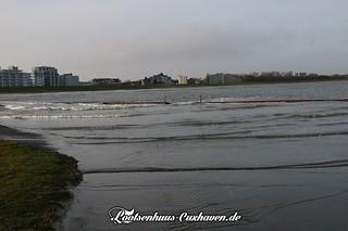 Grimmershörnbucht bei leichter Sturmflut im Winter   by Stilkollektiv