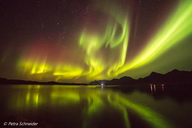 Auroras at Engeløya bridge