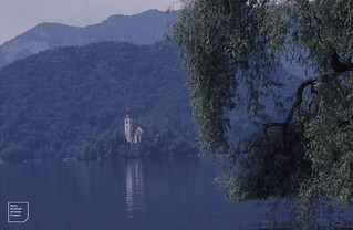 Lake Bled Chapel on Bled 1990