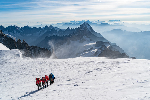 Gran Paradiso en Mont Blanc, Hoogalpiene beklimming