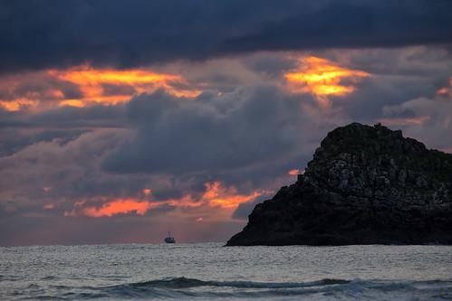 asturias borizo playa beach sigma150600contemporary barco pesca boat fishing sunrise dawn