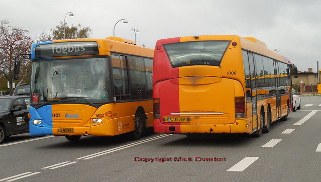 2/3 final 2003 built ARRIVA SCania Omnilinks 1802 + 1809 still on MOVIA contracts now