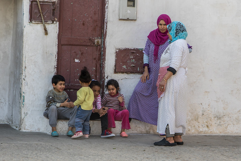 Mothers and children in Rabat, Morocco