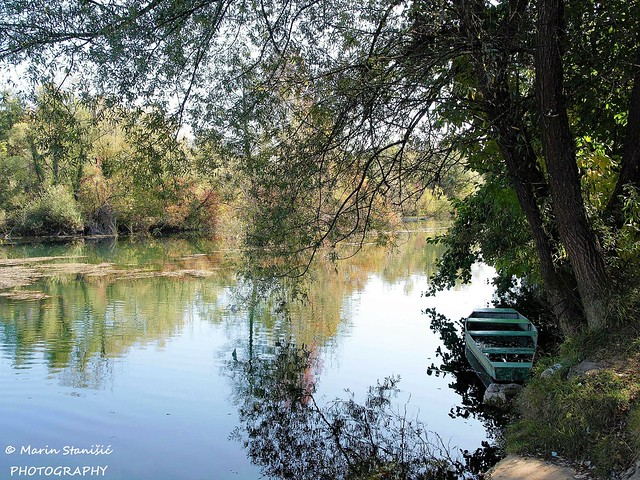 Duga Resa, Croatia - Autumn time on river Mrežnica