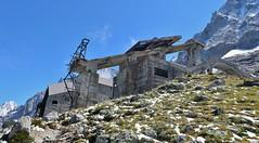 Ancien télépherique de l'Aiguille du Midi, gare des glaciers, Chamonix