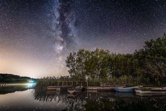 Glorious night at Llangorse Lake