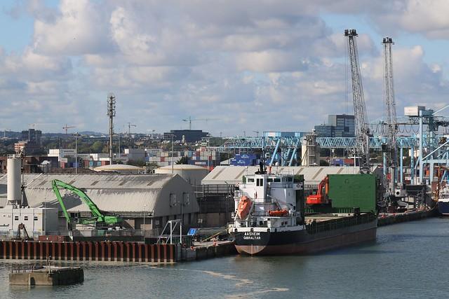 21st September 2017. Aasheim moored on the Liffey. Dublin Bay, Ireland