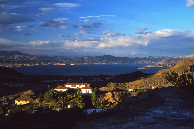 096-058  VIEW OF LAKE MEAD FROM BOULDER CITY, NEVADA - 1996