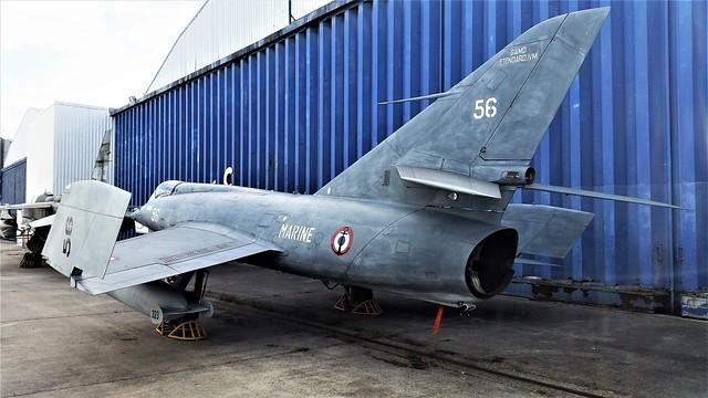 Etendard-IVM No.56 ex French-Navy/ Aéronavale. Preserved, Paris/ Le Bourget Musee-de-'l-Air. 24 June 2017.
