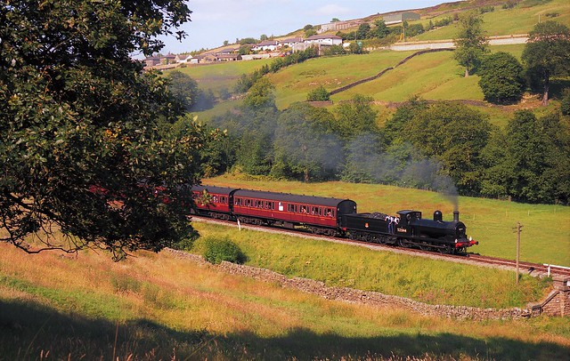 52044 heads for Oxenhope, (Scanned image).