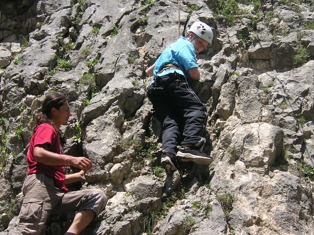 rock climbing - child