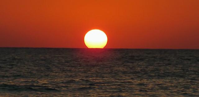Sunset over Med.