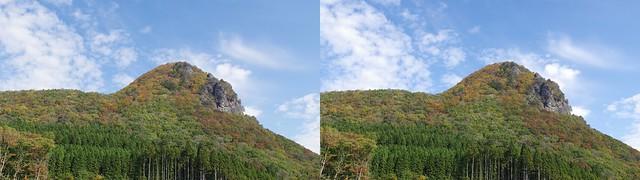 Mount Kamakura, stereo parallel view