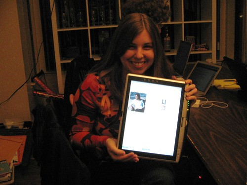 Erica shows off her tablet laptop | by itselea