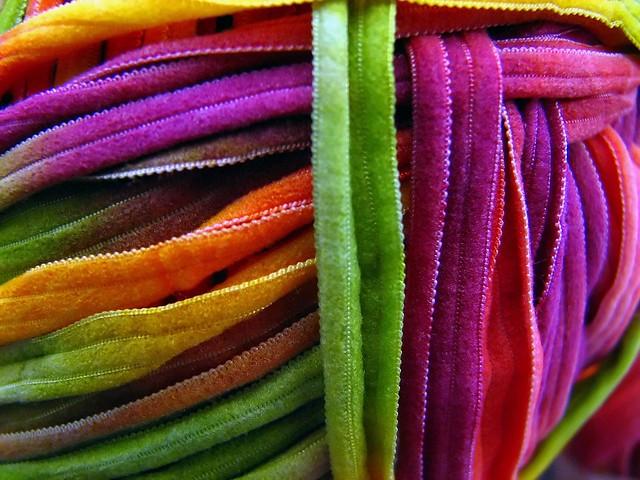 Rainbow Yarn Macro