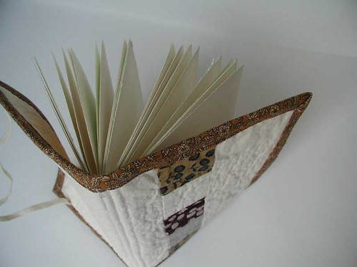 Quilt Book with Brown Binding