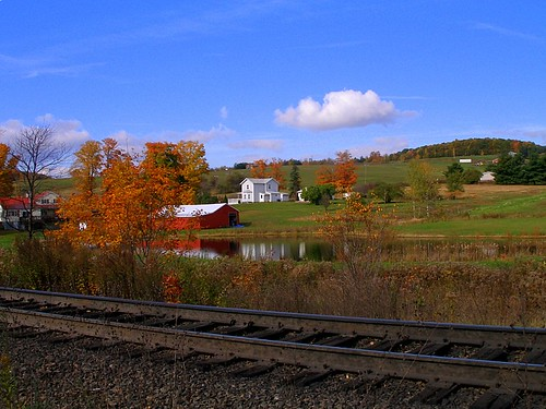 railroad autumn ny newyork fall train landscape ns country tracks tunnel cp belden