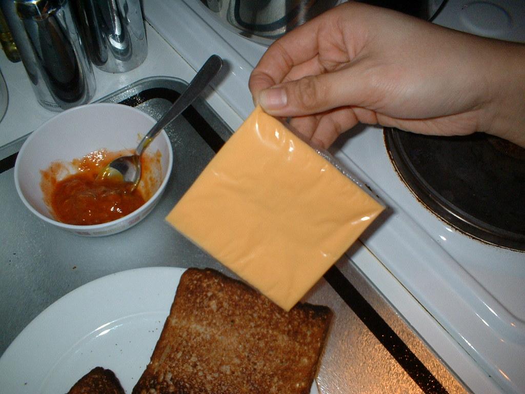 tranche de fromage pour hamburger emballée