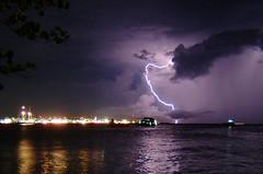 lightning over the capital city | by muha...