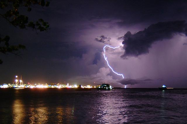 lightning over the capital city