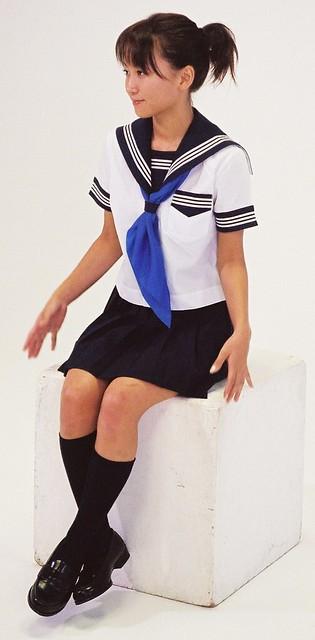 Junko Fukuda uniform for school