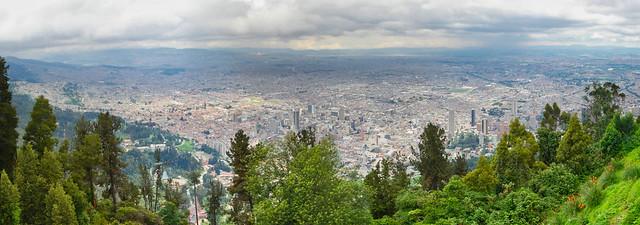 Bogota - Panoramic from Monserrate II